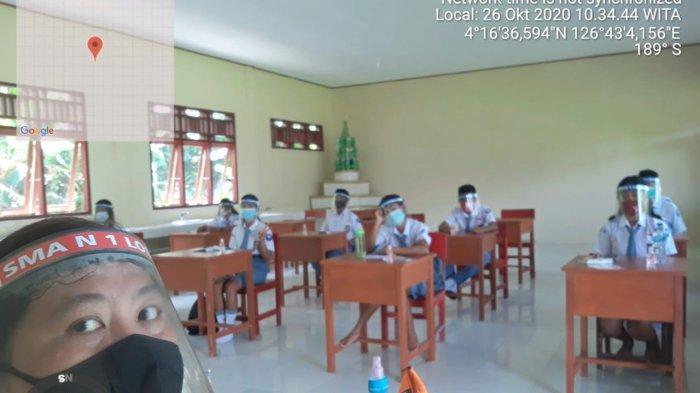 SMA Negeri 1 Lobbo Gelar KBM Pertama di Talaud di Masa Pandemi Covid-19 - apd-sederhana-ini-diadakan-lewat-dana-bos.jpg