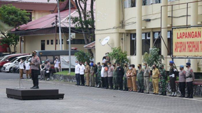 Karo Ops Polda Sulut Pimpin Apel Gelar Pasukan dalam Rangka Penertiban PETI