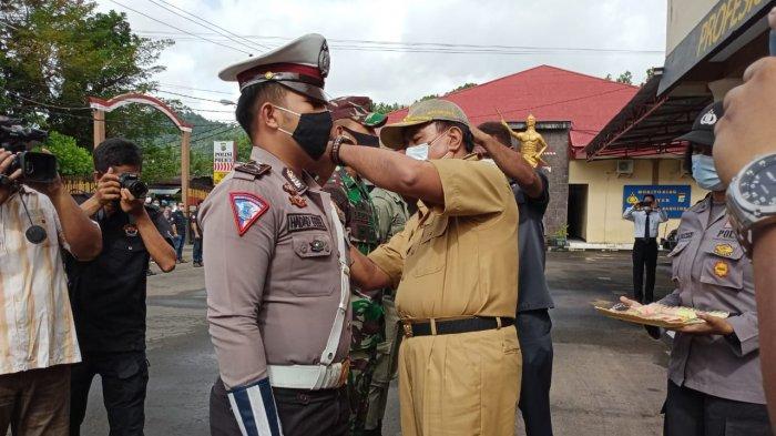 Polres Sangihe Apel Gelar Pasukan Operasi Lilin Tahun 2020, Kasatlantas Ingatkan Protokol Kesehatan