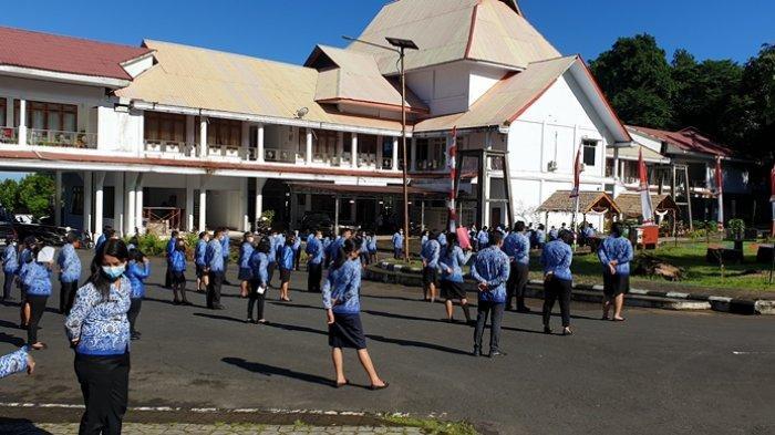 Pemkab Sitaro Gelar Apel Korpri Peringati HUT ke-57 Provinsi Sulut