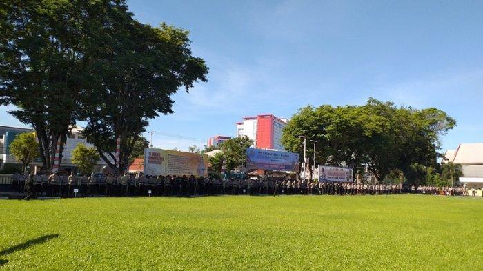 Polda Sulut Gelar Apel Pergeseran Pasukan untuk Pengamanan Pilkada 2020