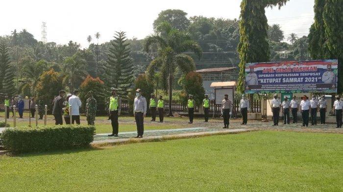 Bupati Minahasa Selatan Pimpin Apel Gelar Pasukan Operasi Ketupat Samrat 2021 di Markas Polres