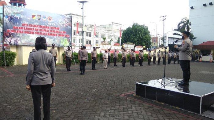 HUT Bhayangkara ke-75, Polresta Manado Lantik 49 Personil dan 1 PNS Naik Pangkat