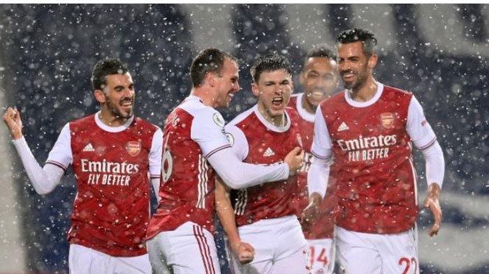 Bertanding di lapangan putih, Arsenal mencetak gol terbanyak dalam satu laga Liga Inggris yang mereka jalani pada musim 2020-2021.