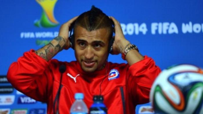 Gelandang tim nasional Cile, Arturo Vidal.