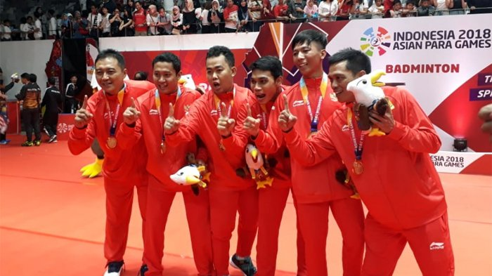 Asian Para Games 2018 - Tim Beregu Putra Bulu Tangkis Indonesia Sumbang Emas Pertama