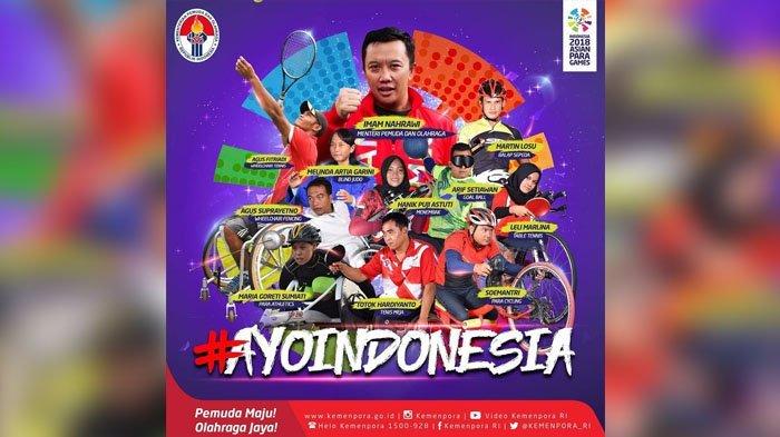 Jadwal & Link Live Streaming Cabor Asian Para Games 2018 di Vidio.com, Selasa 8 Oktober 2018