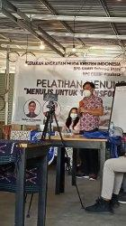 Aswin Lumintang saat memberikan sambutan selaku Wakil Ketua GAMKI Sulut