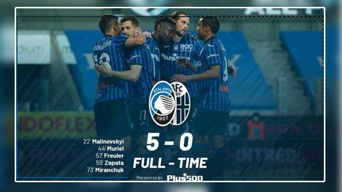 Klasemen Terbaru Liga Italia, Usai Atalanta Kalahkan Bologna Skor 5-0, Geser AC Milan & Juventus