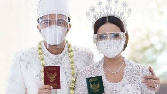 Pasangan suami istri, Atta Halilintar dan Aurel Hermansyah.