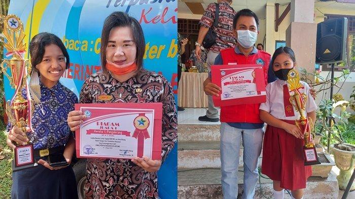 Aurelia Pangalerang dan Callysta Mailangkay Sabet Juara 1 Lomba Cerita di Kota Bitung