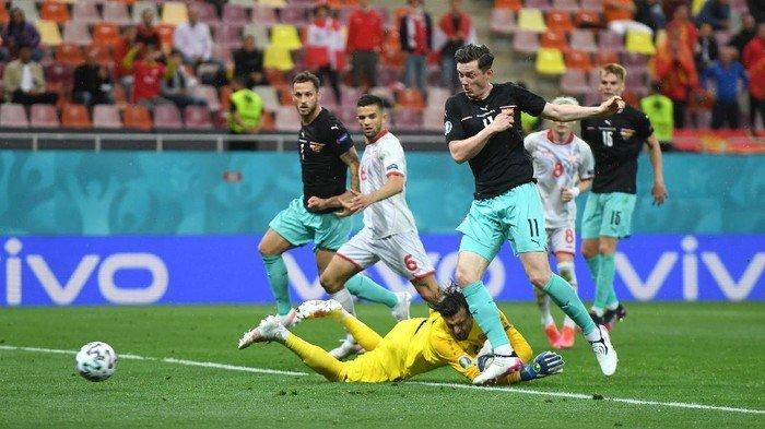 Hasil Austria vs Makedonia Utara Grup C Euro 2020, David Alaba cs Gulung Pasukan Igor Angelovski 3-1
