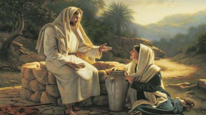 Ilustrasi BACAAN Alkitab saat Yesus Bertemu dengan Perempuan Samaria,