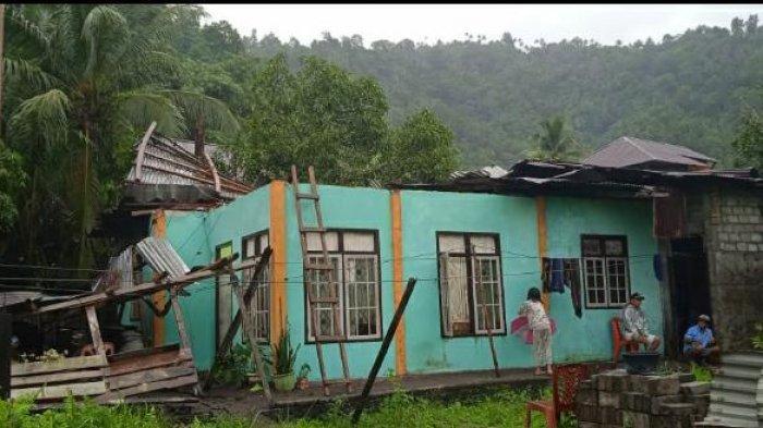 Badai Surigae Terjang Sangihe, Tornado Hancurkan Rumah Warga, Tower Seluler Roboh