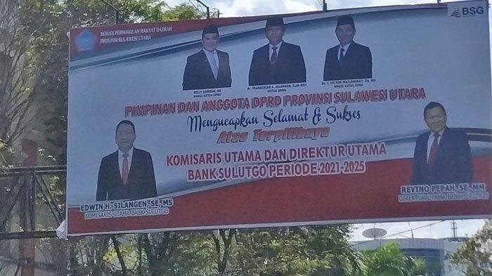 James Arthur Kojongian 'Absen' di Baliho Pimpinan DPRD Sulut,Hanya Gambar Silangen-Mailangkay-Lombok