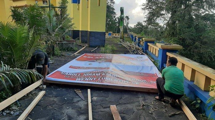 Jelang Pelantikan Wali Kota dan Wakil Wali Kota, Baliho Ucapan Mulai Hiasi Jalanan Tomohon