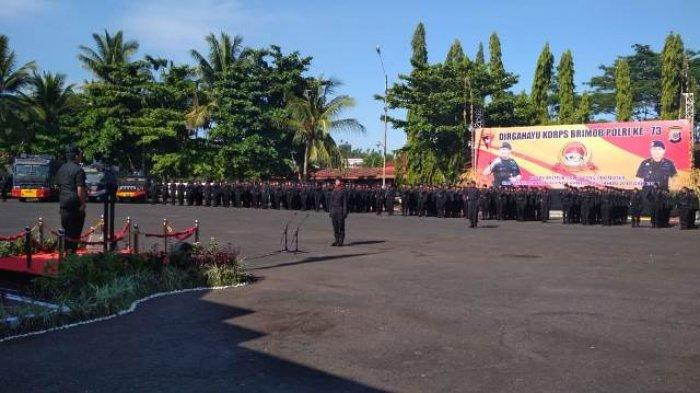 Kapolda Sulut Pimpin Upacara HUT ke-73 Korps Brimob Polri di SPN Karombasan