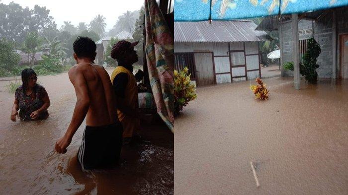 BREAKING NEWS: Banjir Setinggi Dada Orang Dewasa Rendam Rumah Warga Boyong Pante Dua Minsel