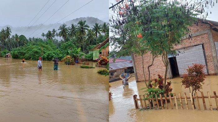 3 Desa di Pintim Bolsel Terendam Banjir, Camat Arfan Jafar Tinjau Lokasi