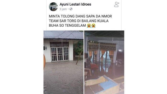 Sejumlah Warga Manado Terjebak Banjir, Minta Dievakuasi melalui Status di Medsos