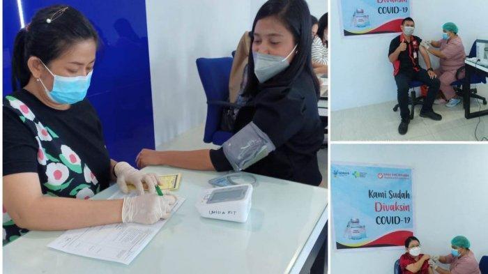 Bank KMC Manado Fasilitasi Kegiatan Vaksinasi Covid-19 Kepada Karyawan dan Keluarga