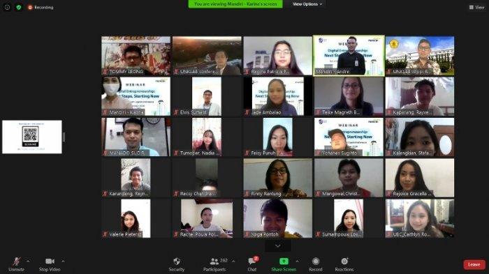 Dorong Kompetensi, Bank Mandiri Manado Edukasi Digital Entrepreneurship ke Mahasiswa Unklab