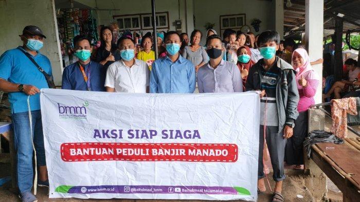 Bank Muamalat Cabang Manado Bantu Korban Banjir dan Longsor
