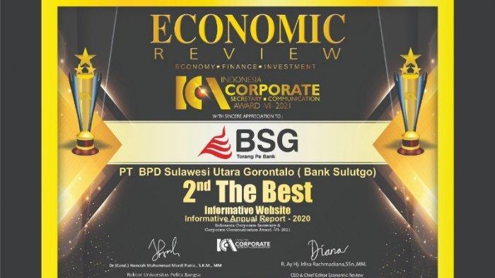 Bank SulutGo Raih Penghargaan The Best Informative Website
