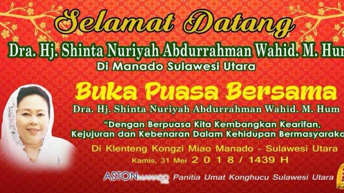 Besok, Istri Mendiang Gus Dur Buka Puasa Bersama Yatim Piatu dan Kaum Dhuafa di Manado