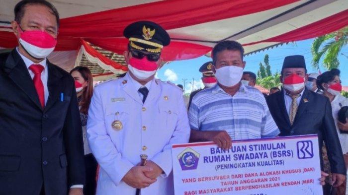 59 Keluarga di Kecamatan Damau Talaud Terima Dana Bantuan Bedah Rumah