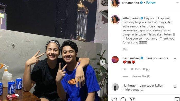 Bastian Steel ulang tahun. Sitha Marino unggah momen jahil bersama (Instagram @sithamarino)