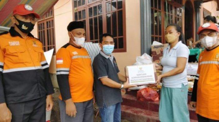 Baznas Kotamabagu Serahkan Bantuan ke Korban Kebakaran di Lorong Osion