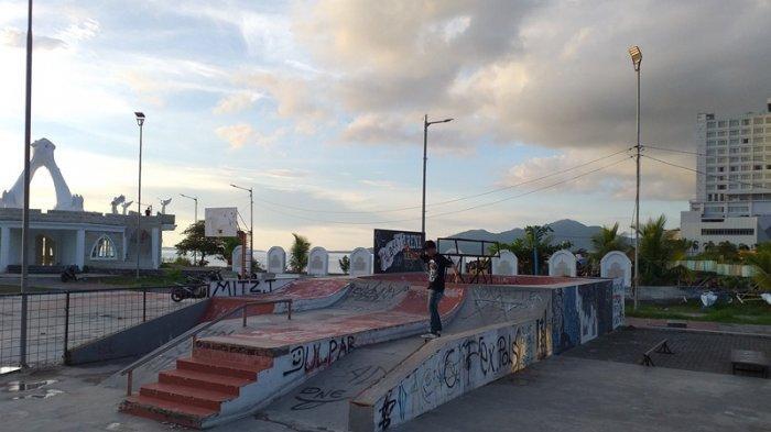 God Bless Park Jadi Tempat Favorit Remaja Manado Sulut Berlatih Skateboard