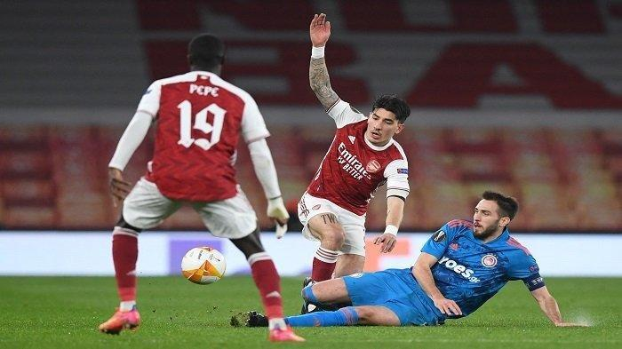 Hasil Liga Eropa Arsenal vs Olympiakos, The Gunners Meski Kalah 0-1, Tetap Melaju ke Perempat Final