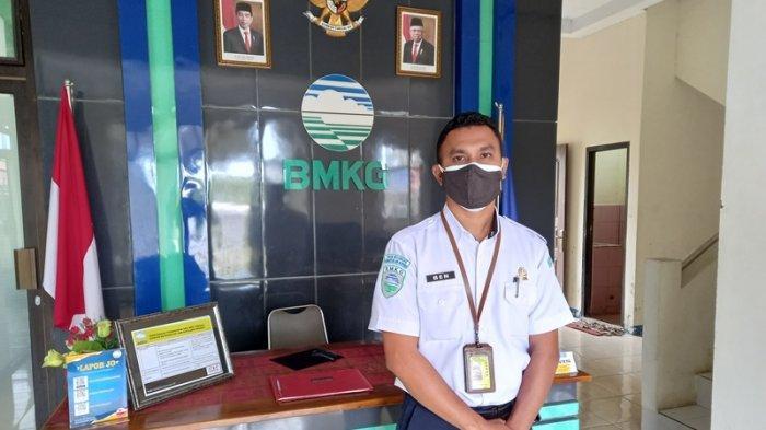 Ben Molle koordinator bidang observasi dan informasi (BMKG) stasiun meteorologi Sam Ratulangi Manado Wilayah Sulut