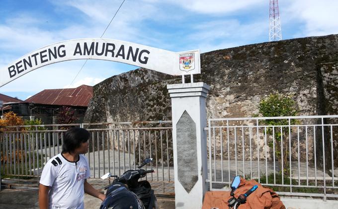 Objek Wisata Benteng Portugis Di Pusat Amurang Tribun Manado