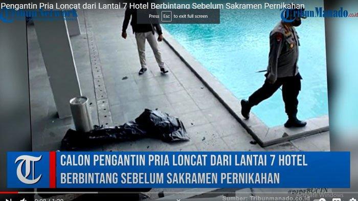 KRONOLOGI Pengantin Loncat dari Hotel Berbintang di Manado Sulut, Keterangan Polisi