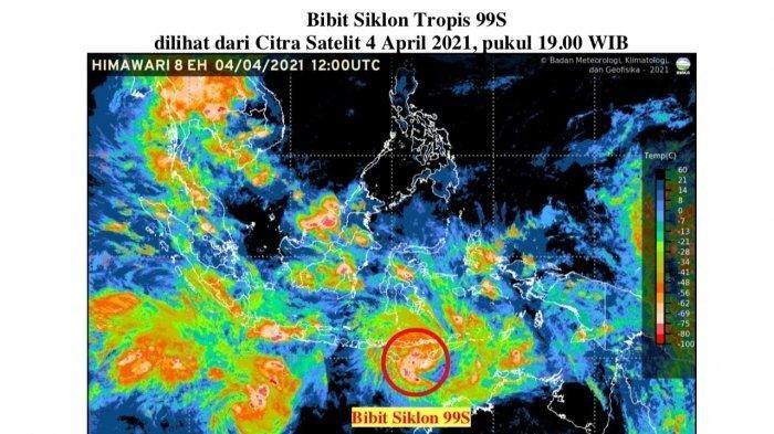 Antisipasi Bencana Akibat Bibit Siklon 99S di NTT, Simak Berikut Ini 4 Rekomendasi dari BMKG