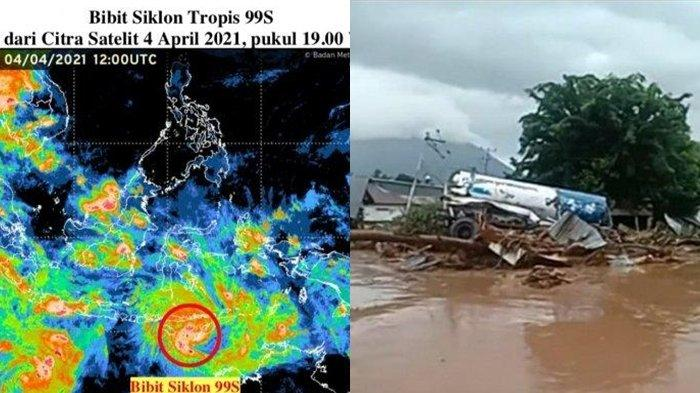 Bibit Siklon 99S atau Seroja Jadi Penyebab Banjir Bandang di Flores Timur, Apa Itu Bibit Siklon 99S?