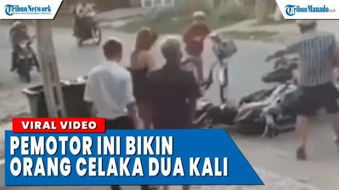 VIDEO Bikin Geram, Pemotor Ini Bikin Orang Celaka, Lalu Salahkan Korbannya