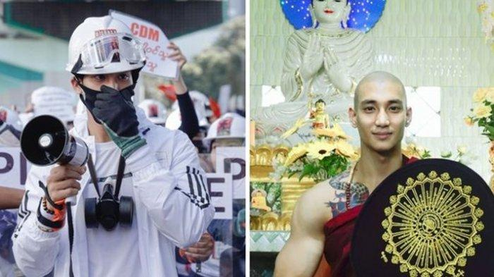 Sosok Biksu Tampan Diburu Junta Militer, Ternyata Seorang Artis, Warganet Myanmar Histeris