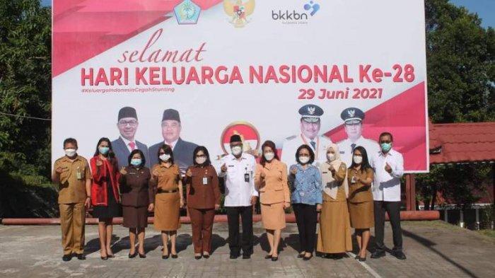 BKKBN provinsi Sulawesi Utara menggelar apel dalam rangka memperingati Hari Keluarga Nasional (HARGANAS) yang ke- 28.