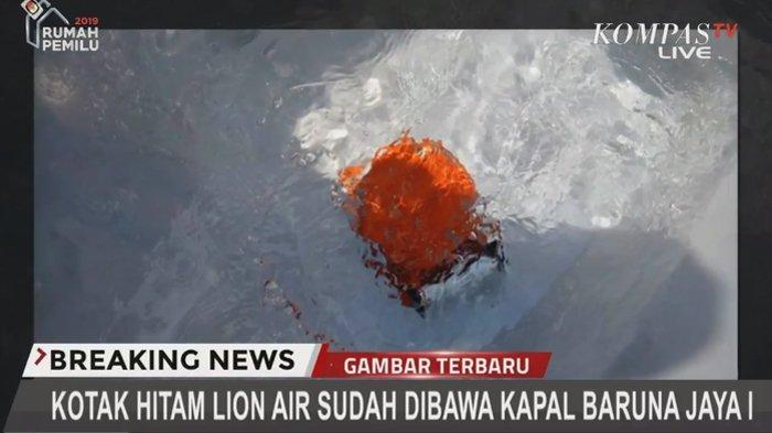 Kotak Hitam Lion Air JT 610 Ditemukan, Sinyalnya Hanya Bisa Dideteksi Dalam Air