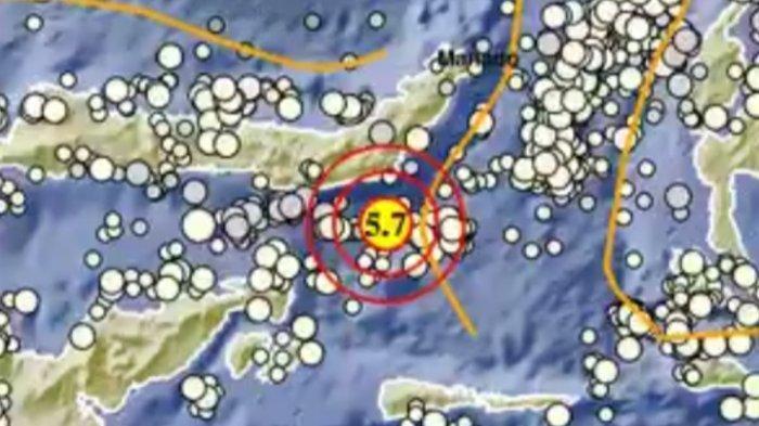 Info BMKG gempa bumi magnitudo 5.7 SR hari ini Jumat 11 Juni 2021 di Sulawesi Utara.