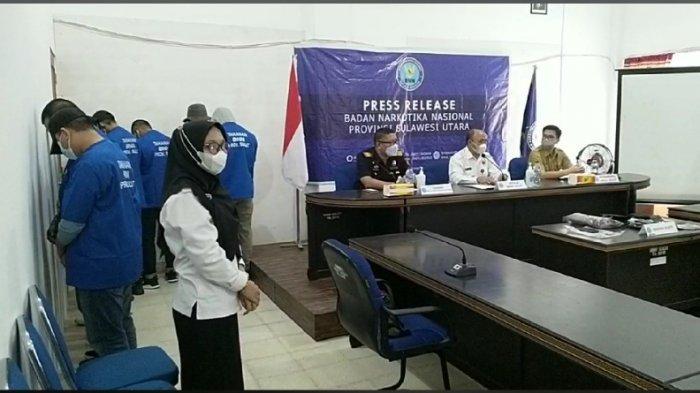 BNNP Sulut Ungkap Jaringan Pengedar Tembakau Jenis Gorila