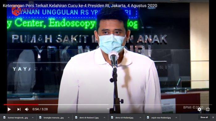 Bobby Nasution saat mengumumkan kelahiran anak keduanya.