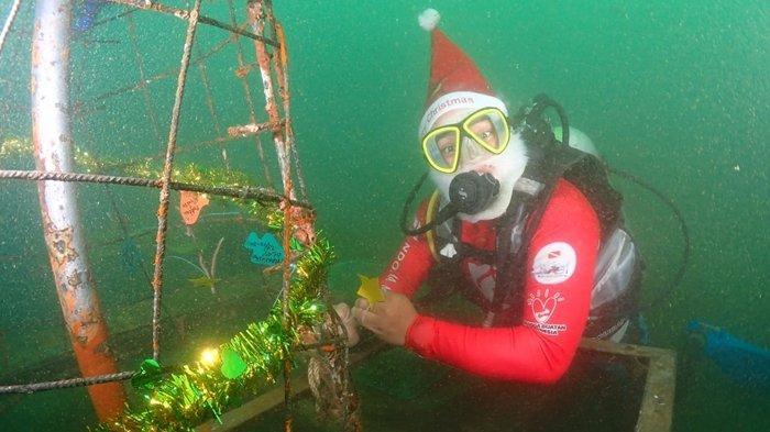 Boboca Diving Club Rayakan Natal Dengan Menanam Terumbu Karang