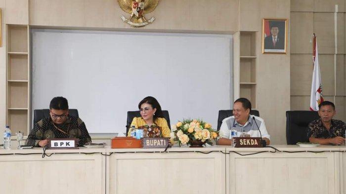 BPK Kunjungi Minsel, Bupati Paruntu: Pejabat Jangan Dulu Keluar Daerah