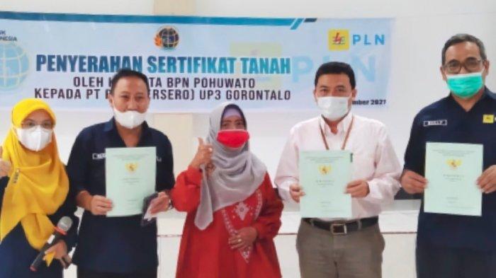 BPN Pohuwato Serahkan Sertifikat Aset Tanah PLN Gorontalo