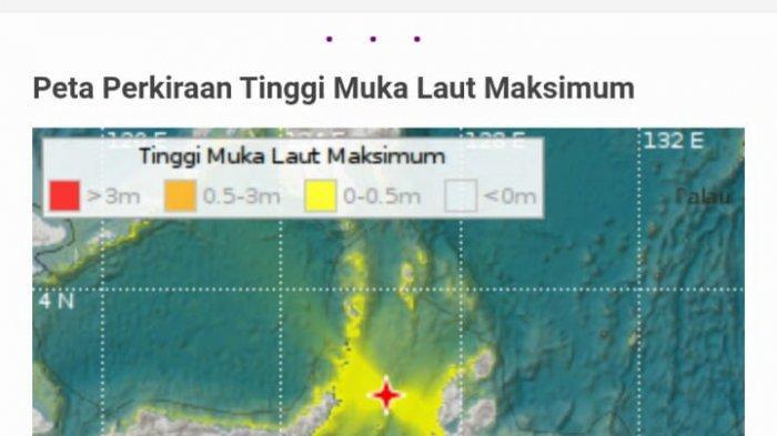 BMKG Stasiun Geofisika Manado: Peringatan Dini Tsunami Untuk Wilayah Malut dan Sulut